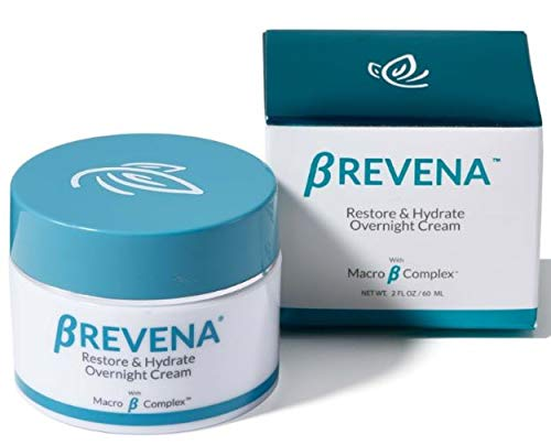 BREVENA Restore & Hydrate Overnight Cream for Dry, Aging Skin | Fragrance Free, with Hyaluronic Acid, Macro B Complex, Rich Night Cream for Sensitive Skin