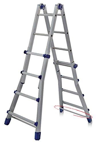 FACAL Briko Blu Scala telescopica Alluminio, Blu