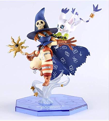 N\a 25cm Anime Figur Wizardmon/Wizarmon E Tailmon/Gatomon - Digimon Abenteuer Digital Monster Toy PVC Model Toy