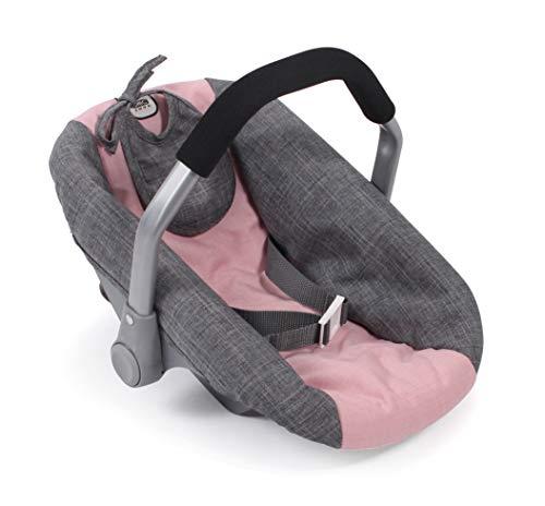 Bayer Chic 2000 708 15 Autositz für Baby-Puppen, Melange grau-rosa