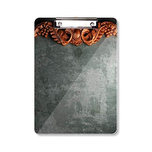 Grijs Cement Mahonie Ornament Patroon Clipboard Folder Schrijven Pad Backing Plate A4