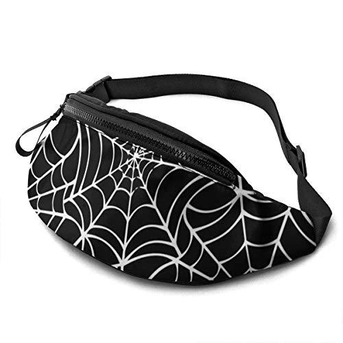 XCNGG Bolso de cintura corriente bolso de cintura de ocio bolso de cintura bolso de cintura de moda Spider Line Waist Bag Pack Sturdy Zippers Running Belt Large Capacity Waist Pouch Bag for Phone Pass