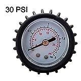Hihey Schlauchboot Luftdruckmessgerät Universal Manometer 30 PSI Manometer Luftthermometer für Schlauchboot Test Luftventil Bootsport Zubehör