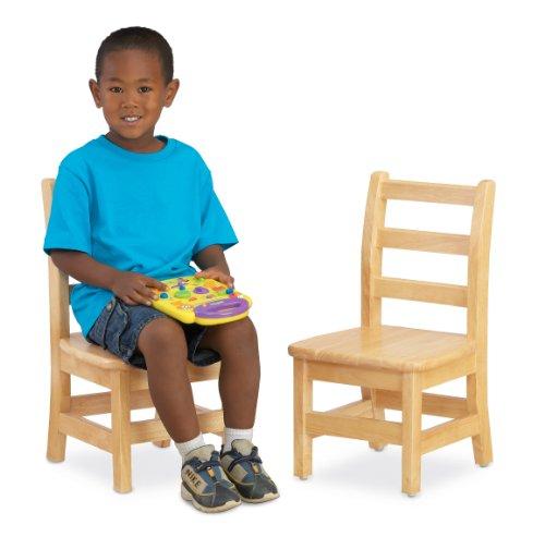 Jonti-Craft KYDZ Ladder Back Chair Pair, 12' Height