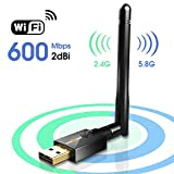 Powerful Wi-Fi technology 802 11Ac-3 times faster than wireless N speeds Enjoy smooth online gaming and seamless HD video streaming Install driver first insert Wi-Fi adapter into Dual band 600Mbps high speed 433Mbps Wi-Fi speeds on 5GHz or 150Mbps 2 ...