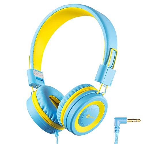 iClever Kids Headphones Girls Toddler - Wired Headphones for Kids on Ear, 94dB Volume Control, Tangle-Free Cord, Foldable, Child