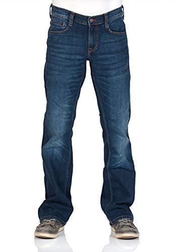MUSTANG Herren Jeans Hose Oregon Bootcut Männer Jeanshose Denim Stretch Baumwolle Blau Schwarz W30 W31 W32 W33 W34 W36 W38 W40, Größe:W 33 L 36, Farbe:Mid Blue (1006280-882)
