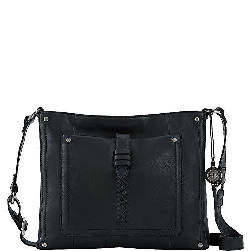 The SAK Damen Heritage Leather Crossbody Umhängetasche, schwarz, Einheitsgröße