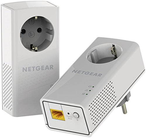 Netgear PLP1200-100PES - Kit de adaptadores Powerline (1200 Mbps,...