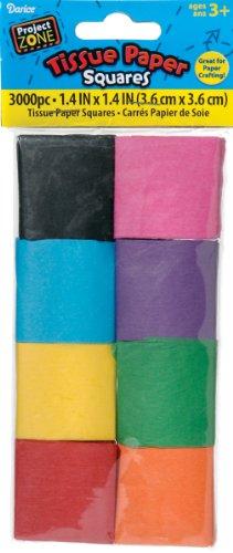 Darice PS521-X Tissue Paper Squares, 1.4-Inch,