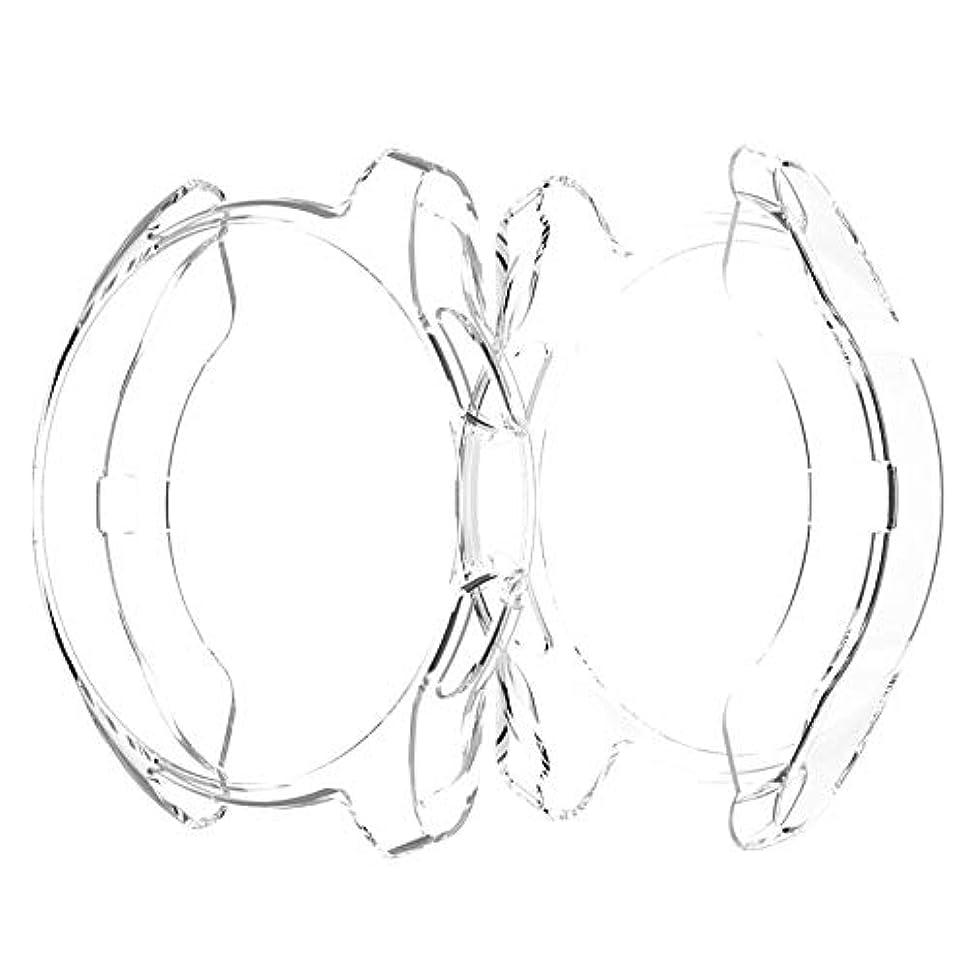 不格好テメリティぶら下がるサムスンギャラクシーウォッチ用保護シェルメッキシリコンシェルラバーアンチフォールスリーブTpuファッション繊細な保護シェル-透明