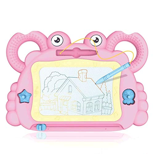 LTCTL Drawing Board Children's Color Magnetic Drawing Board,Erasable Graffiti Drawing Board,Children Drawing,Home Drawing Board Writing Toys (Color : Pink suit B)