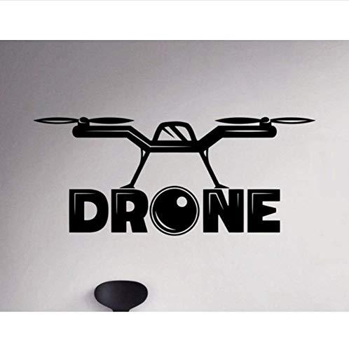 Muursticker Quotes Drone Muur Sticker Onbemande Vliegtuigen Vinyl Muur Sticker Voor Woonkamer Verwisselbare Home Art Decor 42X99Cm