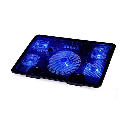 Wyxy Laptop Radiator, Designed with 5 Fans, Ultra-quiet Laptop Radiator Bracket, with Red LED Light, 2 USB Ports, Light Radiator