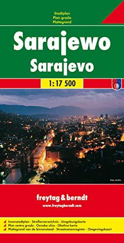 Sarajevo, plano callejero. Escala 1:17.500. Freytag & Berndt.: City Map 1:17, 500: PL 132 CP