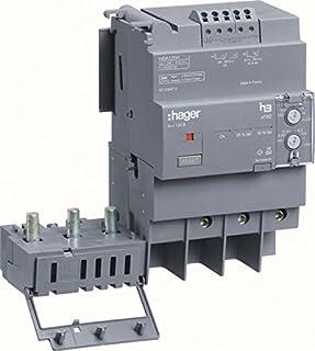 Hager x160 - Bloque diferencial para x160 3 polos 125a regulable montaje lateral