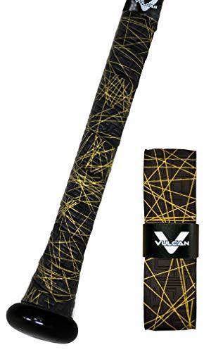 Vulcan 1.00mm Bat Grips/Gold Lazer, Black & Gold