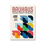 Póster minimalista con impresión de Bauhaus de arte de pared, galería de exposiciones de Bauhaus moderna geométrica abstracta, pintura de lienzo sin marco A7 60x80cm