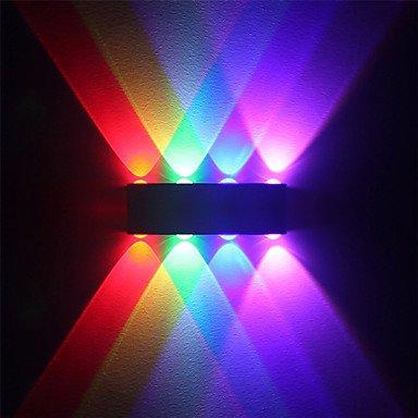 8W moderne Applique murale LED Piscine couloir jusqu'en bas de la lampe murale multicolore Aluminium