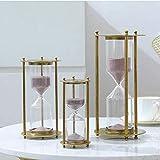HEMFV Timer Metall Sanduhr 15, 30, 60 Minuten Glass Sand Clock Sanduhr Küche Timer - 3er-Set Home Office Tischdekoration Geschenk