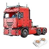 Lommer Technic - Bloques de construcción para camiones, 4825 piezas 2.4 G de control remoto modelo de tractor neumático con motores, kits de construcción compatibles con ladrillos Lego