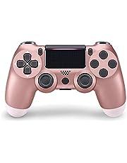 Game Controller voor PS4,Wireless PS4 Remote Controller Grip voor Playstation 4,Draadloze game controller voor PS4/Pro/Slim/PC 800mAh oplaadbare batterij game controller met dubbele vibratie / game joystick / headset jack / Six-axis sensor PS4 controller draadloos