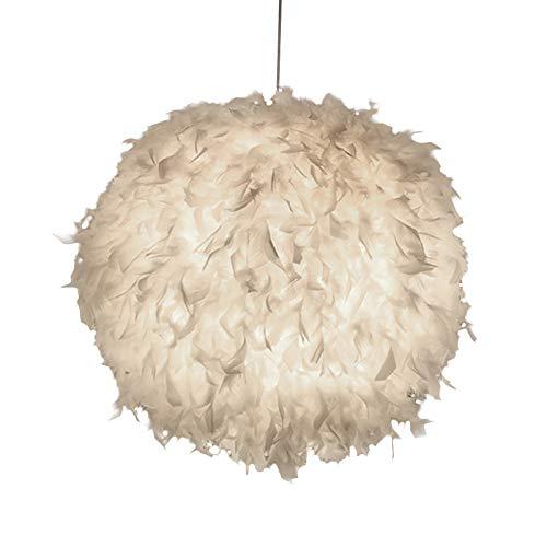 YChoice365 Luz de La Pluma Sombra para El Techo Colgante Romántico de Ensueño de La Pluma Droplight Parlor Lámpara Colgante para El Dormitorio Sala de Estar