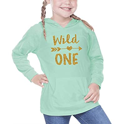 Baby Girl First Birthday Shirt Wild One Year Old Birthday Girl Outfit (12 Months) Green