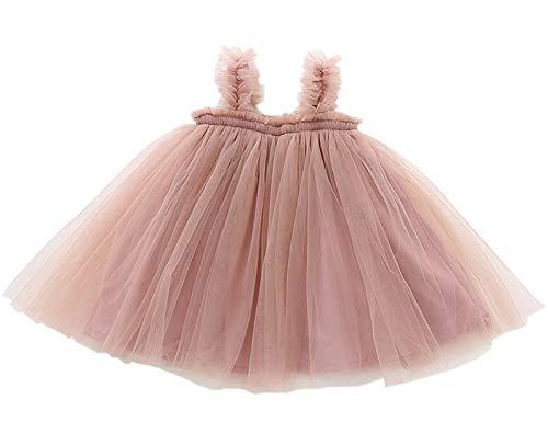 LYXIOF Baby Girls Tutu Dresses Sleeveless Princess Dress Infant Tulle Dress Toddler Sundress Pink 3 Years