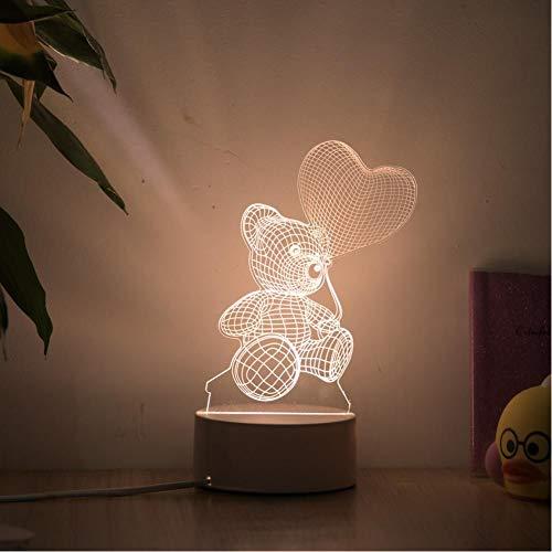 Romantische Liefde 3D-Lamp Hartvormige Ballon Acryl Led-Nachtlampje Decoratieve Tafellamp Valentijnsdag Geliefde Vrouwengift