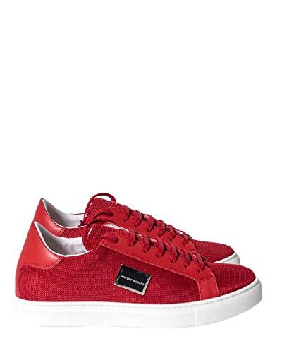 Antony Morato - Zapatillas deportivas para hombre con placa lateral 146 Rojo Size: 43 EU