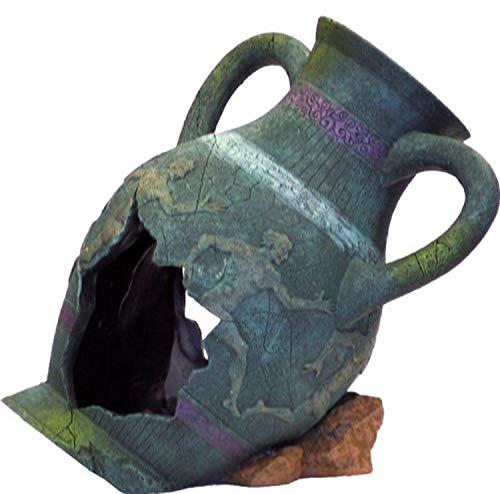 Blue Ribbon EE-822 Dekoelement für Aquarien, griechische Vase