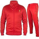PRENDAS DEPORTIVAS ROGER'S, S.L. Chándal oficial del Liverpool con chaqueta + pantalón Reds LFC + pantalones originales rojo XXL