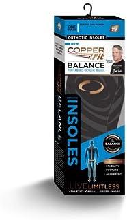 Copper Fit Balance Men Women Performance Orthotic Insoles, Medium Size