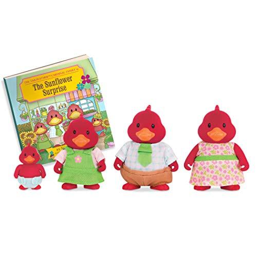 Li'l Woodzeez 255-W6464 Kardinal Family Set, mehrfarbig