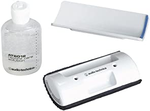 Audio-Technica AT6012 Record Care Kit with Record Care Solution, Brush Pad, Storage Base, and Adhesive Tape