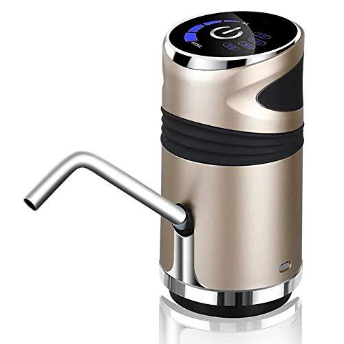 KOUJ Dispensador De Agua para Garrafas Bomba De Agua De Carga USB Ideal Accesorio De Cocina Extraíble Y Conveniente,Oro