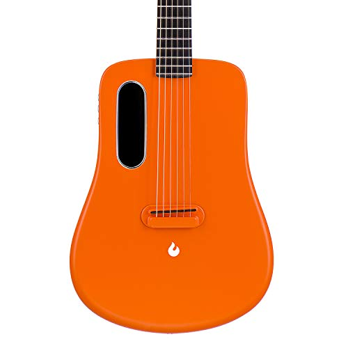 LAVA ME 2 36 inch Carbon Fiber Guitar with effects Acoustic Electric Guitar with Picks Hard Case (Freeboost-Orange)