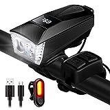 ENONEO Luci Bicicletta USB Ricaricabili LED Luci Bici Anteriore e Posteriore Impermeabile ...