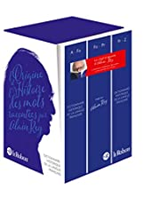 Le Dictionnaire Historique de la langue française - Coffret compact 3 volumes - Nouvelle édition augmentée d'Alain Rey