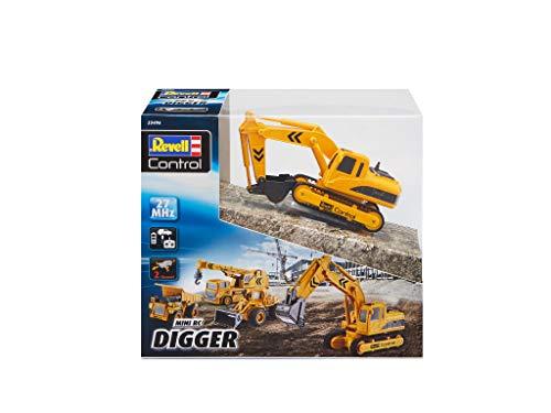 RC Auto kaufen Baufahrzeug Bild 6: Revell Control 23496 RC Baufahrzeug Schaufelbagger mit Kettenantrieb, 27MHz, Akku ferngesteuertes Auto, gelb-orange, 12 cm*