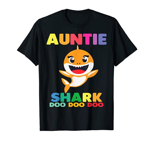 Auntie Shark T-Shirt Doo Doo Uncle Mommy Daddy Aunt Tshirt T-Sh