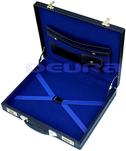 DEURA FREEMASON Layflat WM or MM Masonic Regalia APRON HARD CASE BRIEFCASE