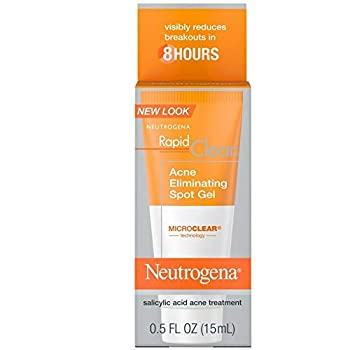 Neutrogena Rapid Clear Acne Eliminating Spot Gel 0.50 oz  Pack of 5