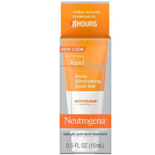 Neutrogena Rapid Clear Acne Eliminating Spot Gel 0.50 oz (Pack of 5)