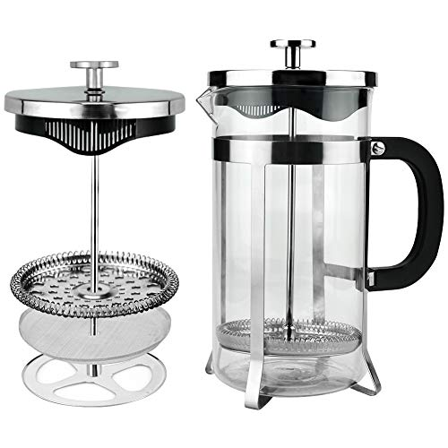HOMEE French Press Coffee Maker, 33 oz, Stainless Steel, Coffee Percolator