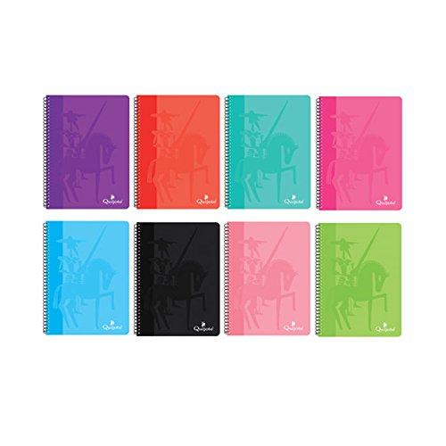 BF7664 - Pack de 8 cuadernos tapa dura, TAMAÑO PEQUEÑO A5, 80 hojas, 60 gramos, cuadros 3x3mm: Amazon.es: Oficina y papelería
