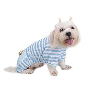 Doux Coton pour animal domestique Chien Pyjama Bande JumpSuit Cute Dog Cat Vêtements Apparel pour l'été par temps froid