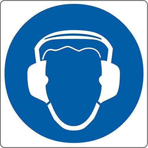 Vloerpictogram ?gehoorbescherming verplicht? - Wit & Blauw - - (D9PM16520-AM200)