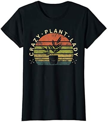Womens Crazy Plant Lady Plant Lover Gardener Gifts Gardening Garden T Shirt product image